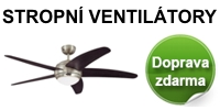 Stropni ventilatory - doprava zdarma