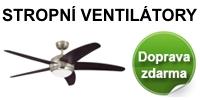 Stropni ventilatory - doprava zdarma