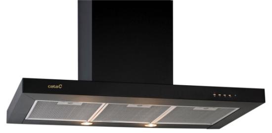 CATA EPOC 900 - černá komínová digestoř ke zdi