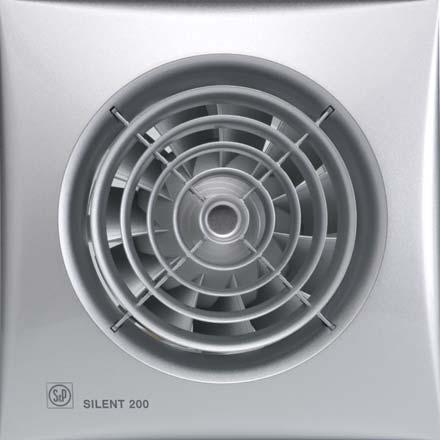 SILENT 200 SILVER CZ - tichý axiální ventilátor