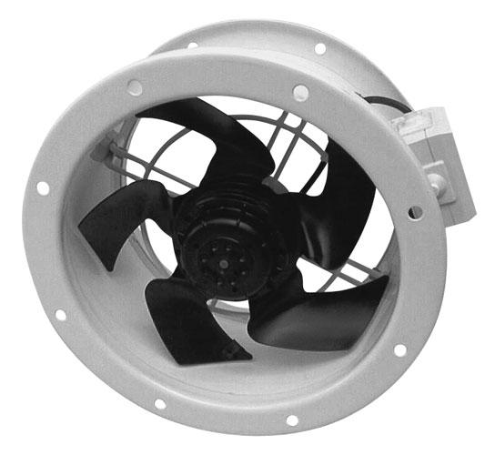 EDAV 200 2P - axiální potrubní ventilátor