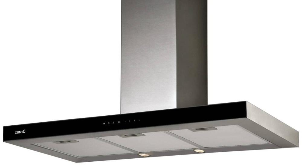 CATA MIDAS GLASS TC3V 900 - nerez/sklo komínová digestoř ke zdi