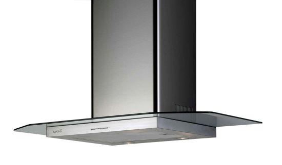 CATA PV GLASS VL3 700 - nerez/sklo komínová digestoř ke zdi